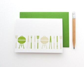 SALE - Letterpress 'Barbecue' Card