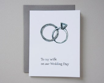 SALE - To my wife on our wedding day card