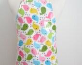 Kid apron AGE 4-8 / Pastel Bird Laminated Art Smock / Craft apron / Art smock / Full arpon / Children apron / Preschool apron / Garden apro