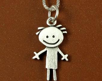 Happy boy necklace / pendant