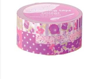 Purple and Pink Washi Tape,Collage Masking