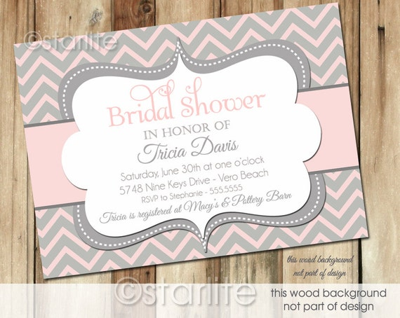 Pink Bridal Shower Invitations Gangcraft Net