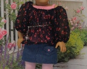 Pretty Bows- Skirt Set for American Girl with beret
