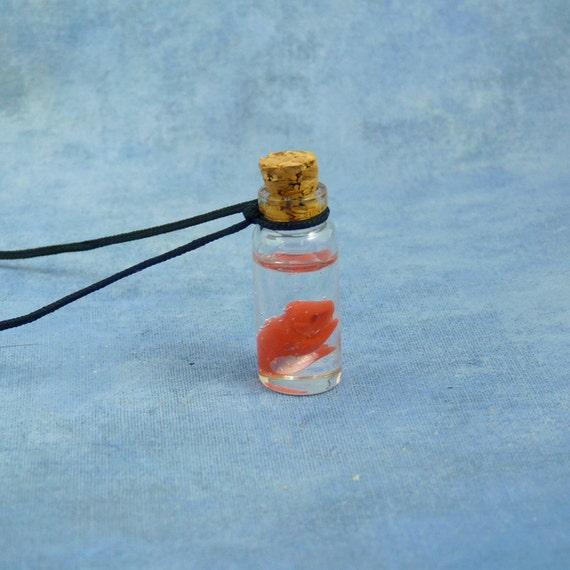 Fetal Pig Specimen Jar Necklace, Handmade Biology Jewelry