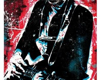 Bob Dylan - Tangled up in Blue - 12 x 18 High Quality Art Print