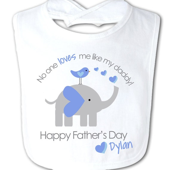 Father 39 S Day Bib No One Loves Me Like My Daddy For By