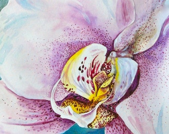 """Watercolor Painting, Orchid, Original Painting, 11""""x15"""""""
