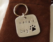 READY TO SHIP: Mama's Boy - Pet Tag - Dog Tag - Aluminum, Metal, Mother's Day Gift from the Dog
