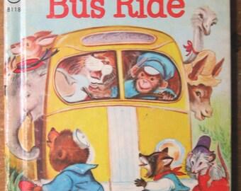 Vintage Children's Book: The Animal's Bus Ride