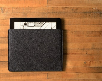 Simple iPad Air Sleeve - Charcoal Felt - Long Side Opening