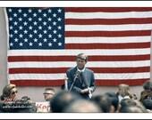 Robert F. Kennedy,  AMERICAN FLAG PORTRAIT, Astoria, Oregon, Clyde Keller Photo, large 16x20 Inch Fine Art Print, Color, Signed, Treasury