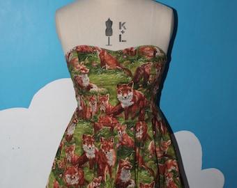 LAST ONE - fox sweet heart dress - all sizes