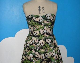 cute panda sweet heart dress - all sizes