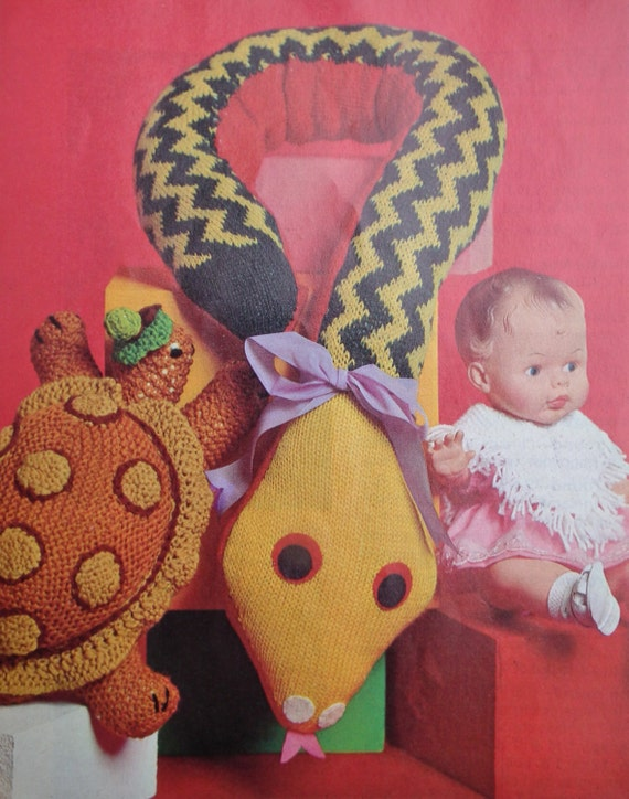 Patons Knitting Patterns Toys : Patons Bazaar Time Booklet Vintage 1960s 1970s by ...