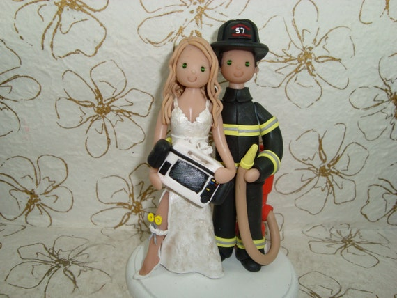 Firefighter And Paramedic Cake Topper