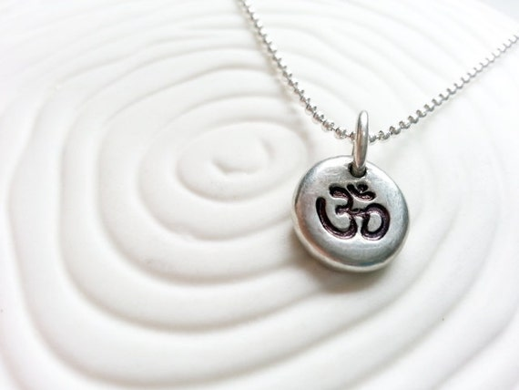 ohm necklace ohm symbol pendant jewelry by larkandjuniper