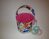 La Paloma - Fabric Easter Basket - Reversible Storage Organizer