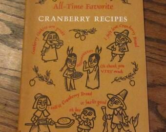 101 All-Time Favorite Cranberry Recipes  vintage cookbook 1970