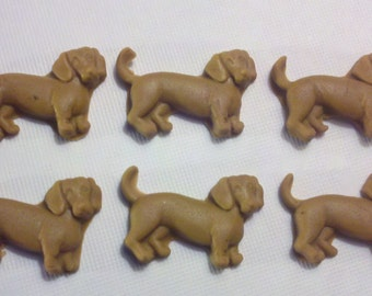 Fondant Edible Wiener Dogs-Fondant Edible Dachshund Dogs-Cake/Cupcake Toppers-12