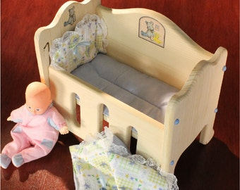 Doll Bed includes Mattress, Comforter and Pillow
