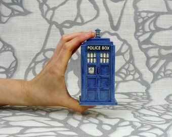 Ready to Ship: TARDIS Ceramic Miniature