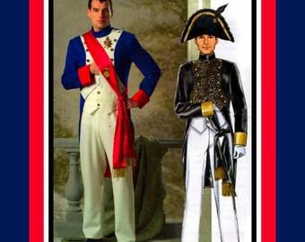 NAPOLEON BONAPARTE- 19TH Century French Military Uniform-Costume Sewing Pattern-Jacket-Buttom Trim-Pants Sash- Uncut -Size Xl-3X-Rare