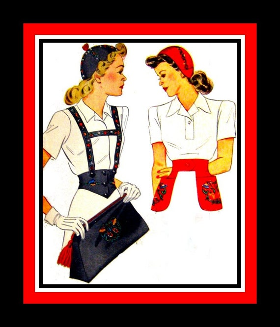 Vintage 1940s Fashion Accessories Sewing Pattern Calot