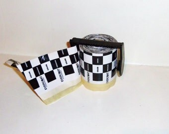 Vintage Automobile Painting Body Work Tape Roll EVERCOAT Car Checkered Black and White Racing Flag
