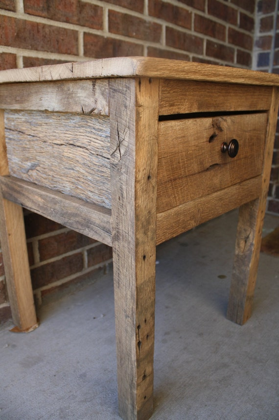 YOUR Custom Rustic Barn Wood End Table Night Stand or Side