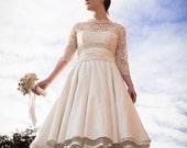 Sample Sale - Josie - 1950s Tea Length Wedding Dress