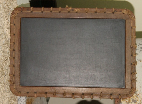 Antique Primitive Slate Board Chalkboard Chalk Board 1900s