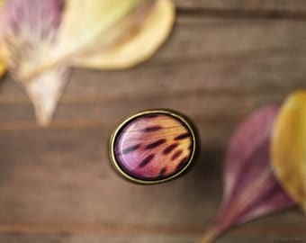 Wild Orchid statement ring - Alstroemeria ring - Yellow and pink ring - Safari Jewelry - Bloom collection by BeautySpot  (R065)