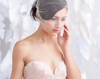 Tulle bandeau birdcage veil, veil, bridal veil, wedding veil - ready to ship - FREE SHIPPING*