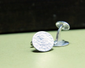 Hammered Sterling Cufflinks- Free Shipping