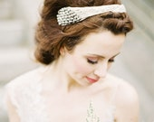 Felicity: hand beaded vintage style headband/crown in gold or silver