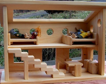 Wooden Dollhouse-FREE SHIPPING