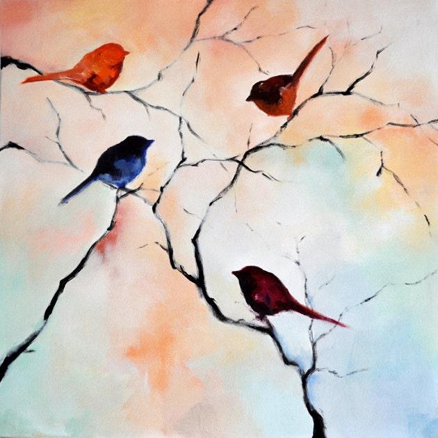 Bird paintings modern - photo#5
