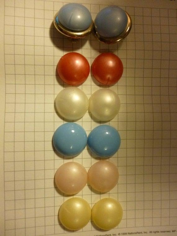 SALE Large Interchangeable Cabochon Clip Earrings