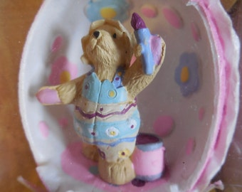 Vintage Bear Muffy VanderBear Collector Sugar Egg Walking in Eggshells Easter Decor
