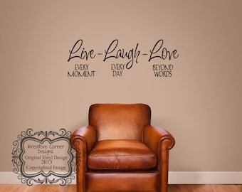 Live Laugh Love Vinyl Decal