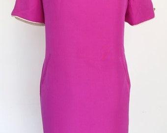 HAIRSPRAY // magenta 1960s dress S / M / L