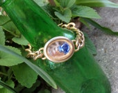 blue roses REVERSIBLE former watch bracelet - 349