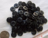 Black Splash Buttons - 9/16 inch - YOU PICK QUANTITY  25 thru 75