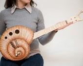 Snail ukulele (snailele) acoustic electric