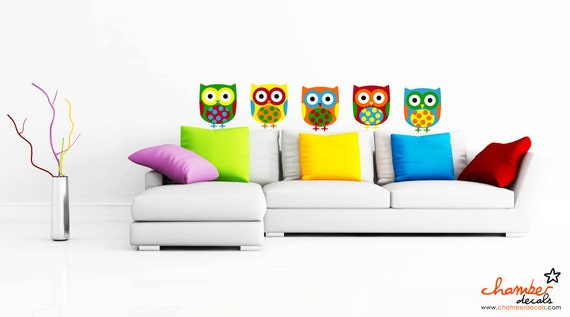 Colorful Owl Decals / Stickers