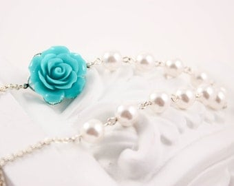 Bridesmaid Jewelry Valencia Turquoise Bridal Necklace
