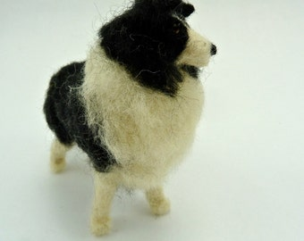 Felted Miniature Dog, Small Custom Dog, Felted Wooly Friend made to order