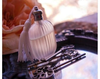andromeda frost - natural perfume oil held captive within winter-frosted bottle - over 60 aroma options - victorian romance