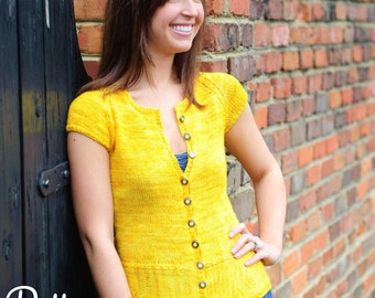 make your own Madeline Cardigan (DIGITAL KNITTING PATTERN) Teens and Adults