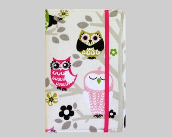 Kindle Cover Hardcover, Kindle Case, eReader, Kobo, Kindle Voyage, Kindle Fire HD 6 7, Kindle Paperwhite, Nook GlowLight Classy Owls